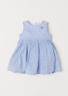 H&M H & M - Cotton Dress - Blue