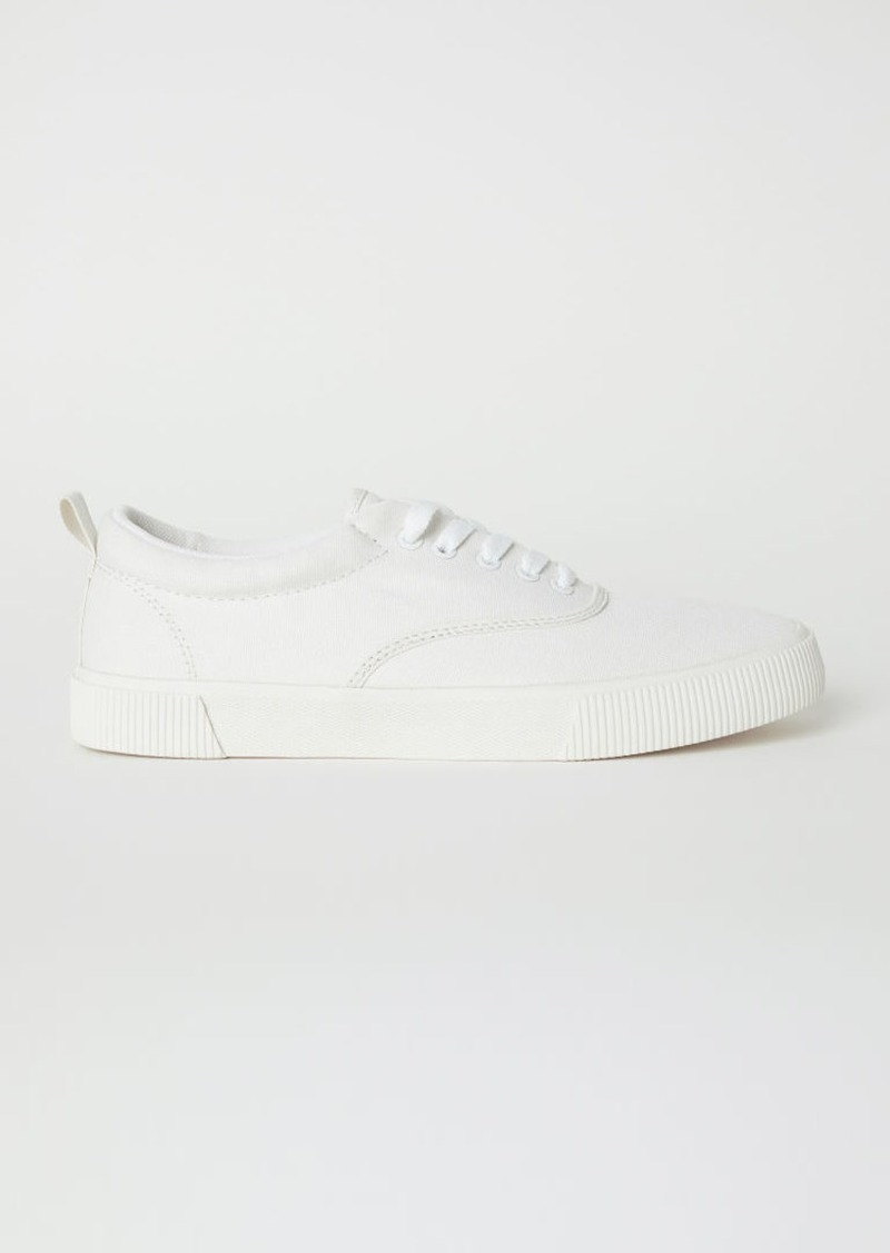 H&M H & M - Canvas Sneakers - White