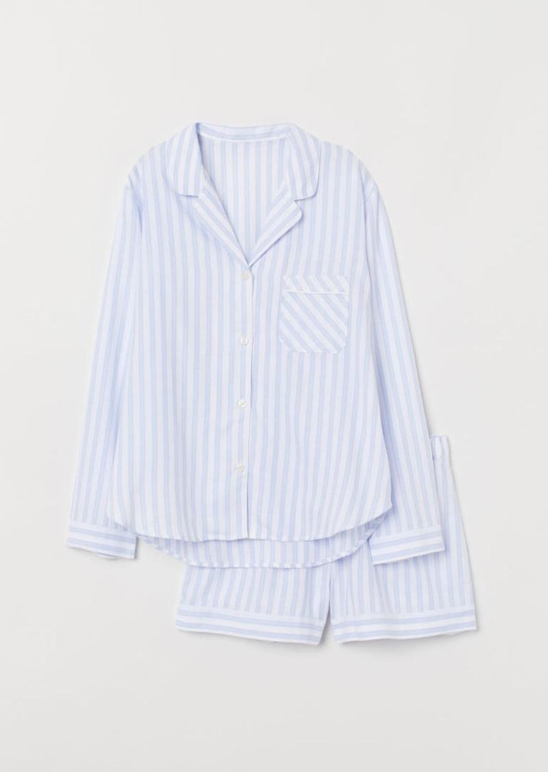 H&M H & M - Cotton Flannel Pajamas - Blue