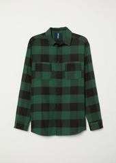 H&M H & M - Cotton Flannel Shirt - Green