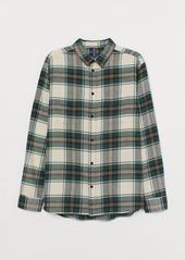 H&M H & M - Cotton Flannel Shirt - Green