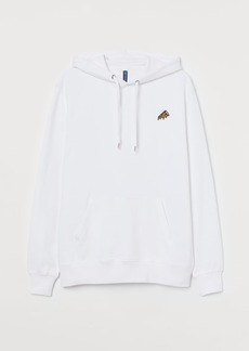 H&M H & M - Cotton Hoodie - White