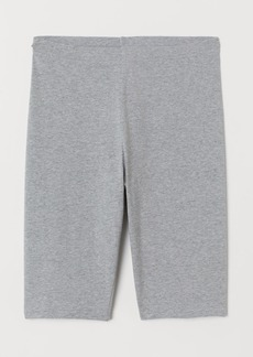 H&M H & M - Cotton Jersey Cycling Shorts - Gray