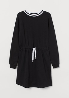 H&M H & M - Cotton Jersey Dress - Black
