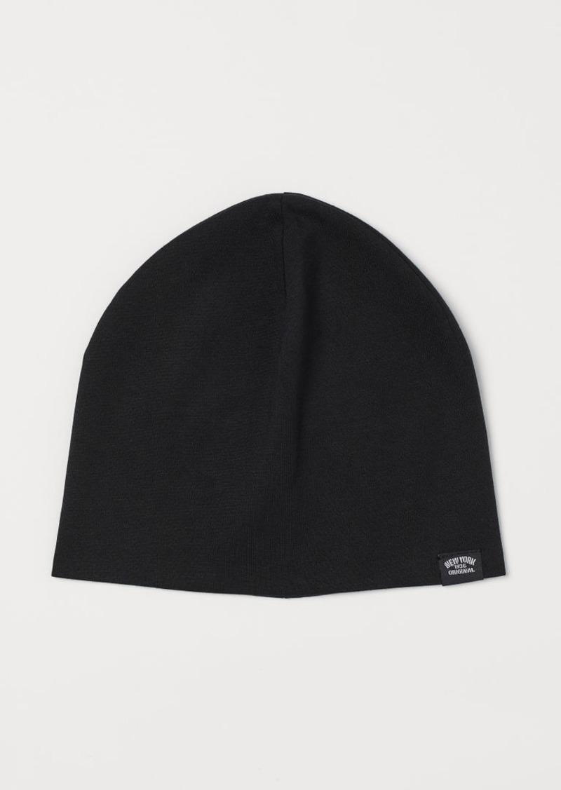 H&M H & M - Cotton Jersey Hat - Black