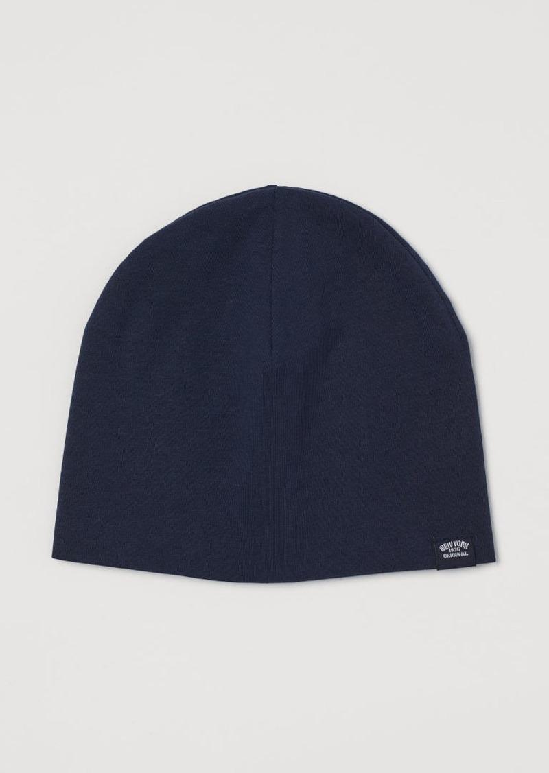 H&M H & M - Cotton Jersey Hat - Blue