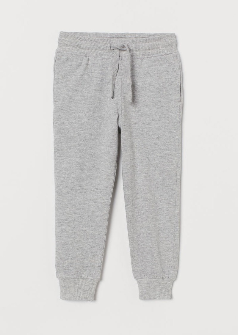 H&M H & M - Cotton Jersey Joggers - Gray