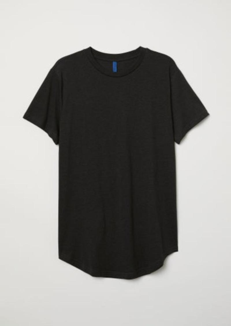 H&M H & M - Long Fit T-shirt - Black