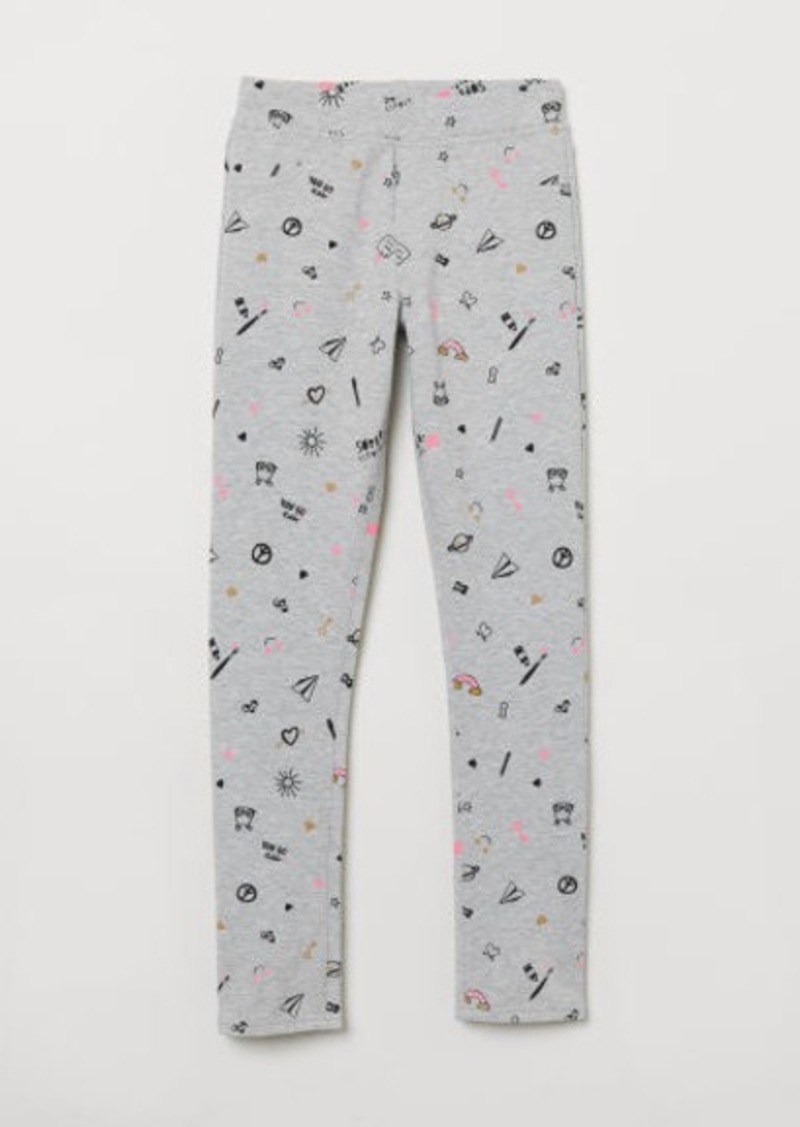 H&M H & M - Cotton Jersey Treggings - Gray