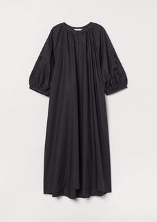 H&M H & M - Cotton Kaftan Dress - Black