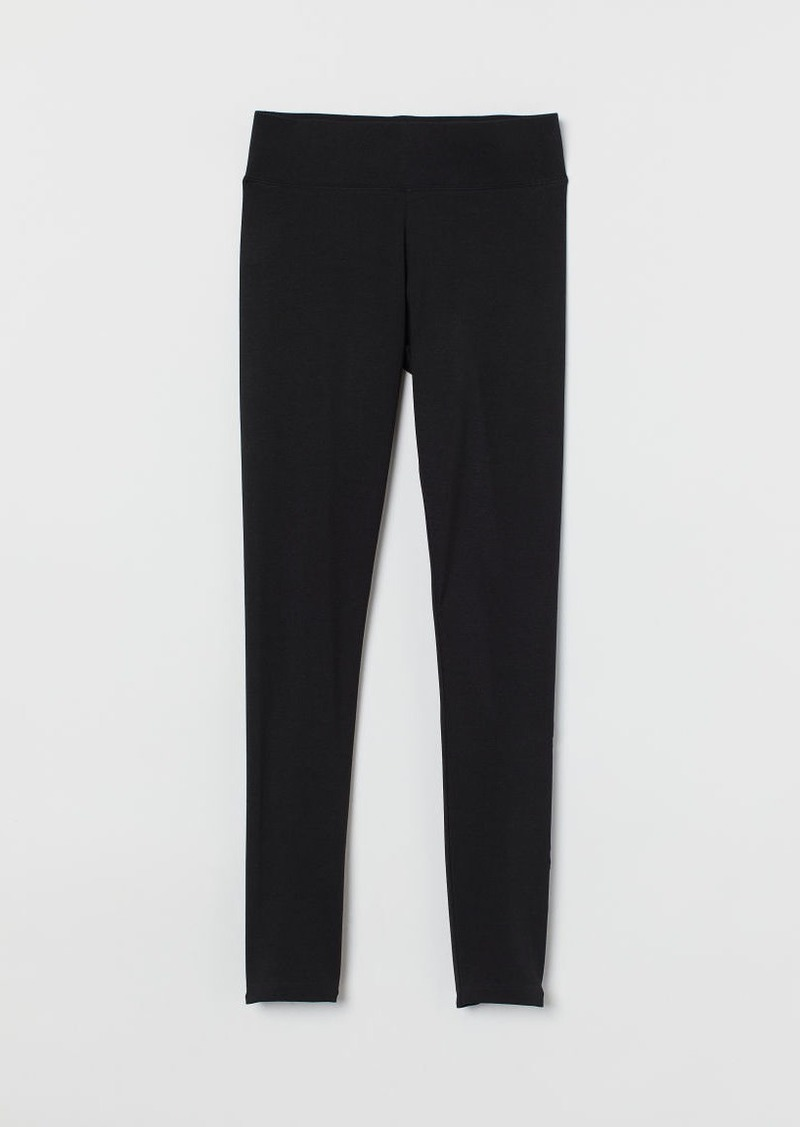 H & M - Cotton Leggings - Black