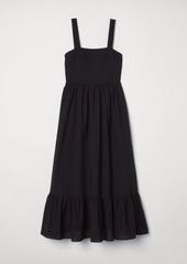 H&M H & M - Cotton Maxi Dress - Black
