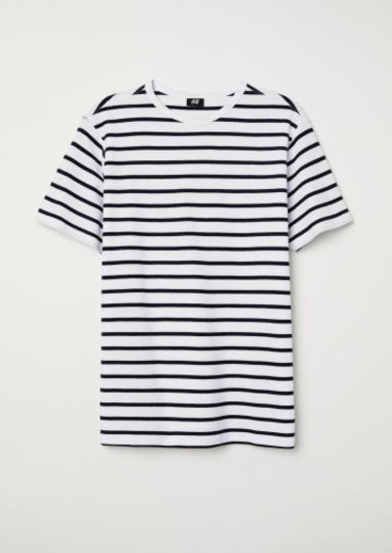 H&M H & M - Cotton Piqué T-shirt - White