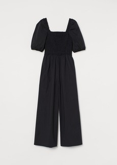H&M H & M - Cotton Poplin Jumpsuit - Black