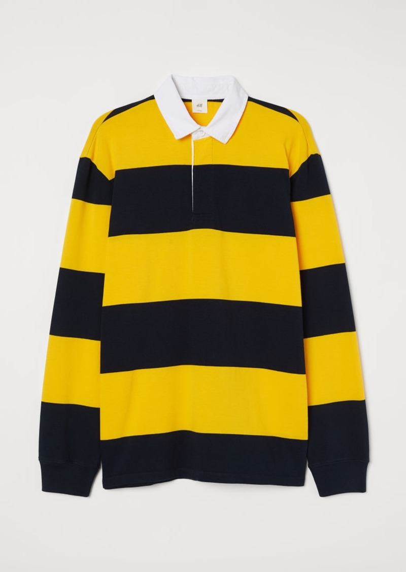 H&M H & M - Cotton Rugby Shirt - Yellow