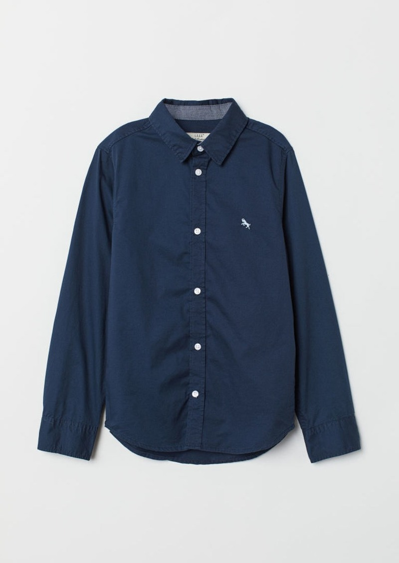 H&M H & M - Cotton Shirt - Blue