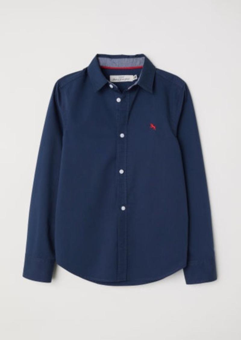 H&M H & M - Cotton Shirt - Blue