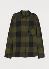 H&M H & M - Cotton Shirt - Green