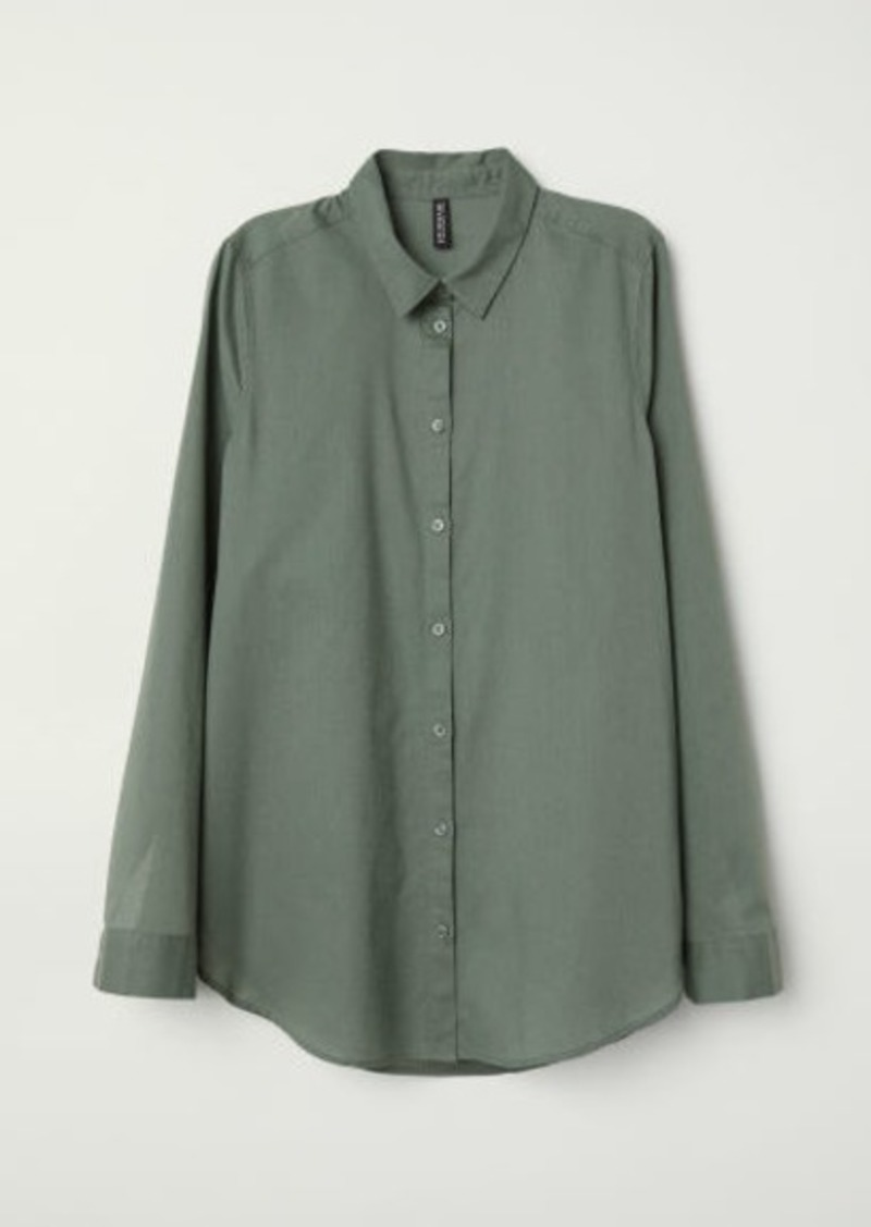 H&M H & M - Cotton Shirt - Green