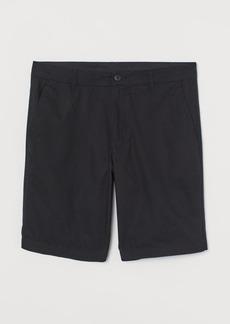 H&M H & M - Cotton Shorts - Black