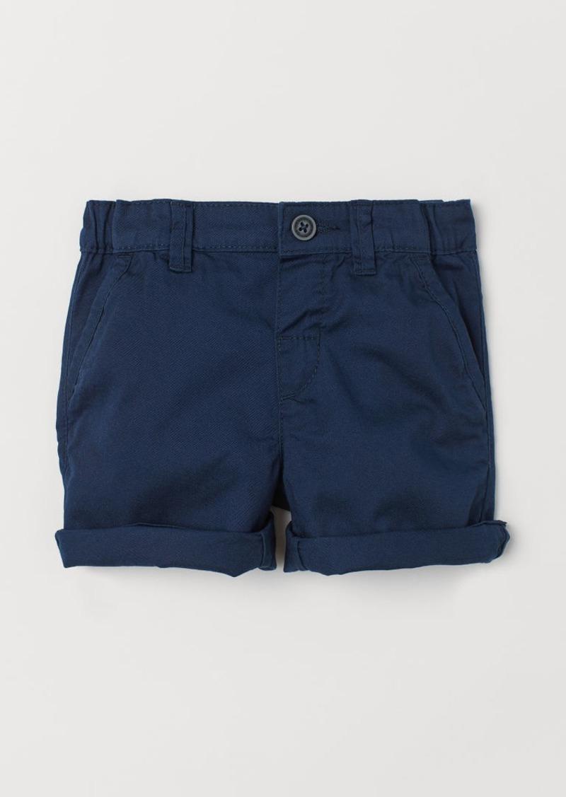 H&M H & M - Cotton Shorts - Blue