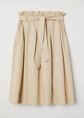 H&M H & M - Cotton Skirt - Beige