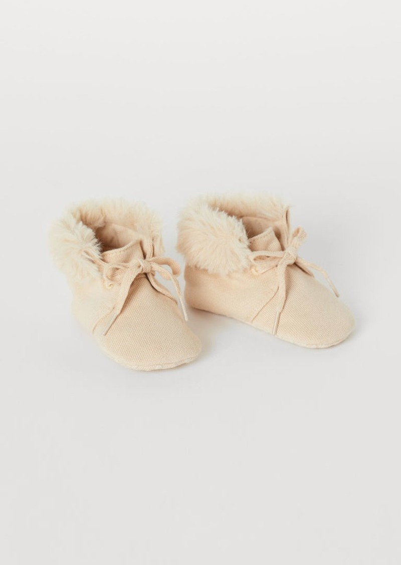 H&M H & M - Cotton Slippers - Beige