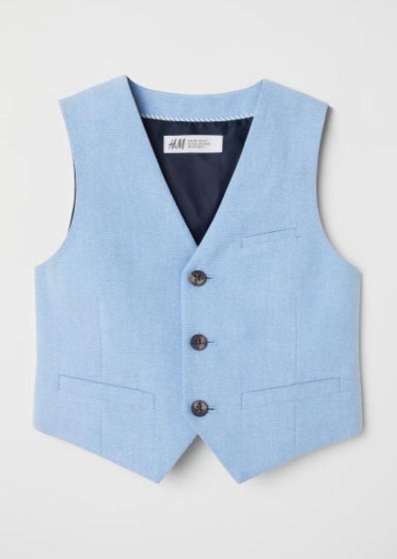 H&M H & M - Cotton Suit Vest - Blue
