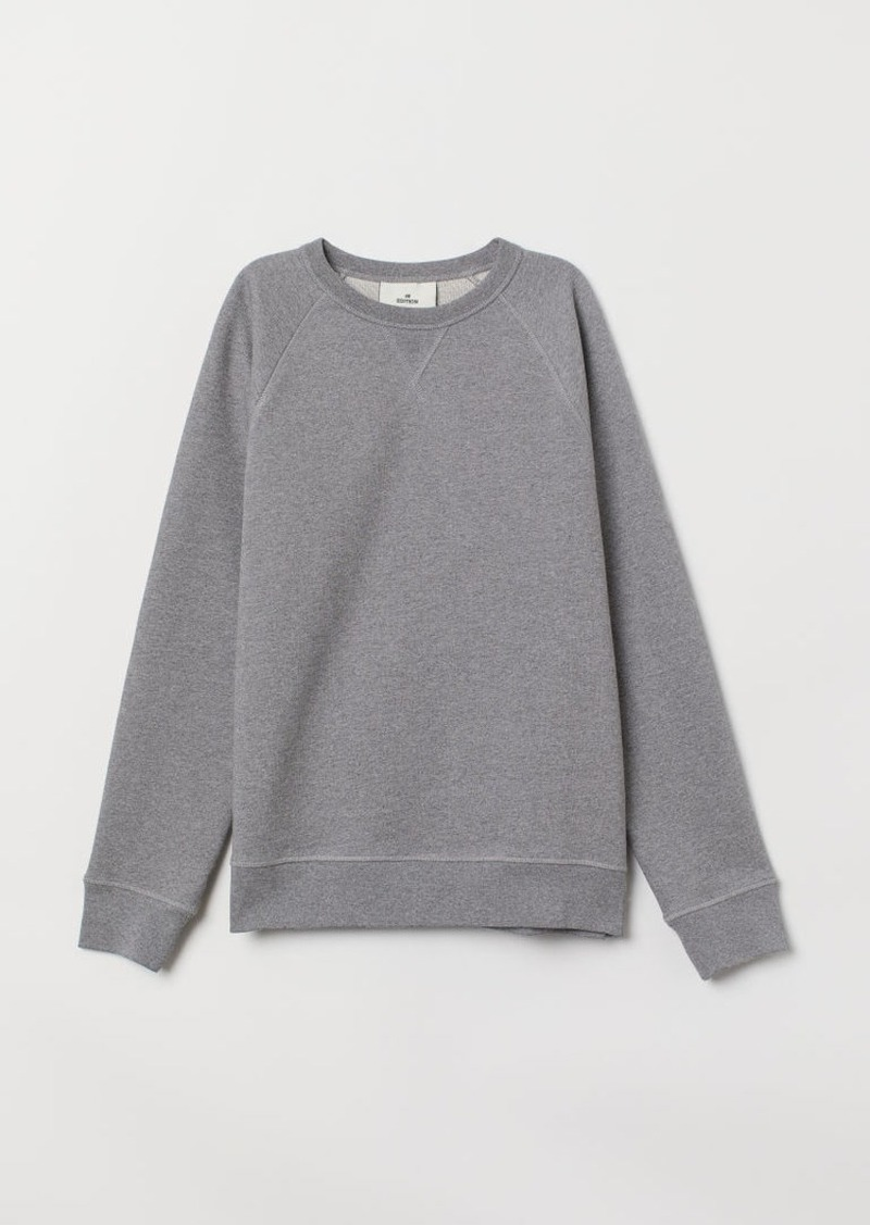 H&M H & M - Cotton Sweatshirt - Gray
