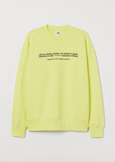 H&M H & M - Cotton Sweatshirt - Yellow