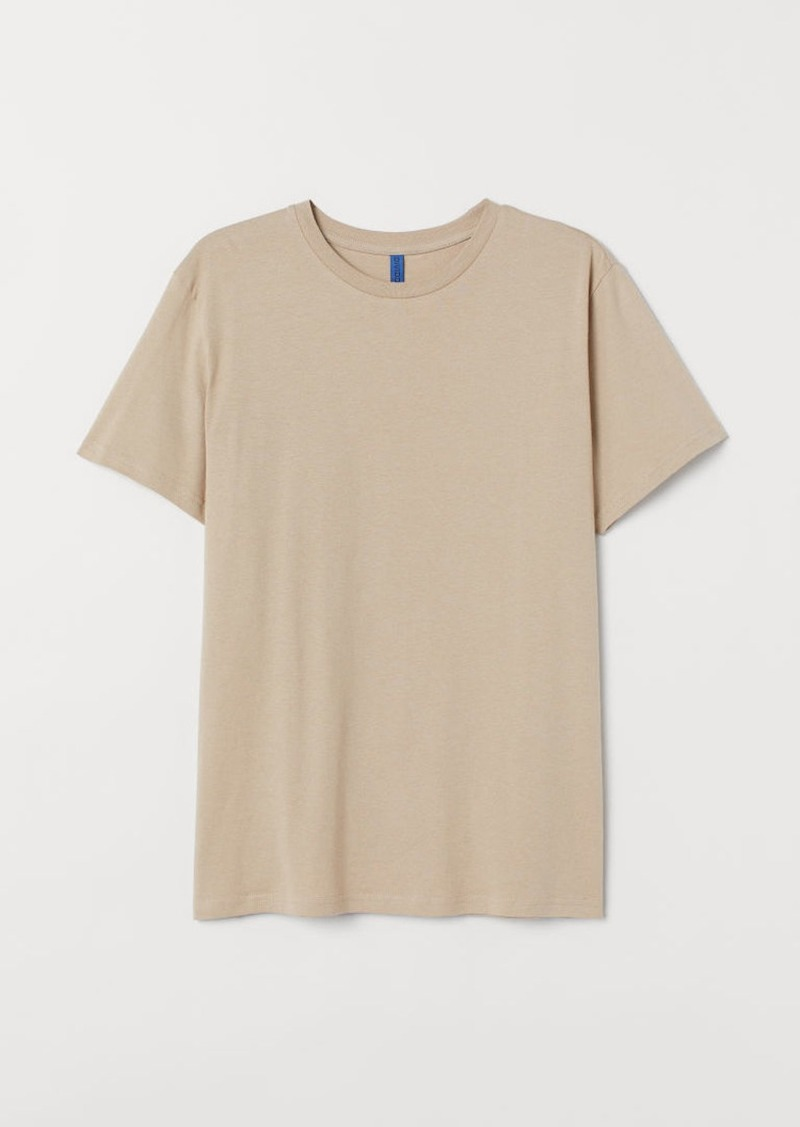 H&M H & M - Regular Fit Crew-neck T-shirt - Beige