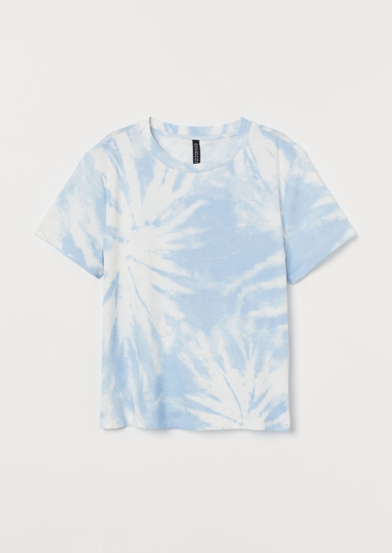 H&M H & M - Cotton T-shirt - Blue