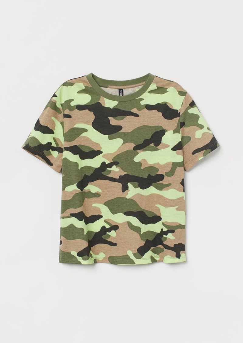 H&M H & M - Cotton T-shirt - Green