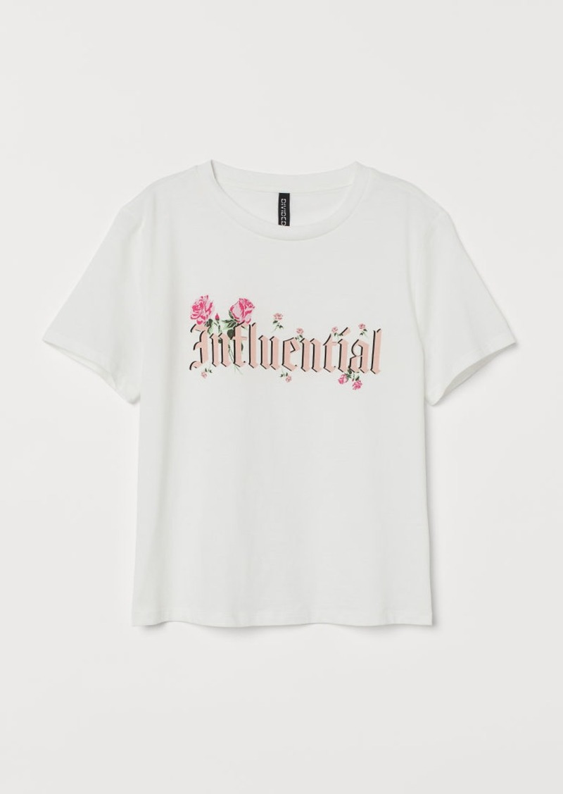 H&M H & M - Cotton T-shirt - White