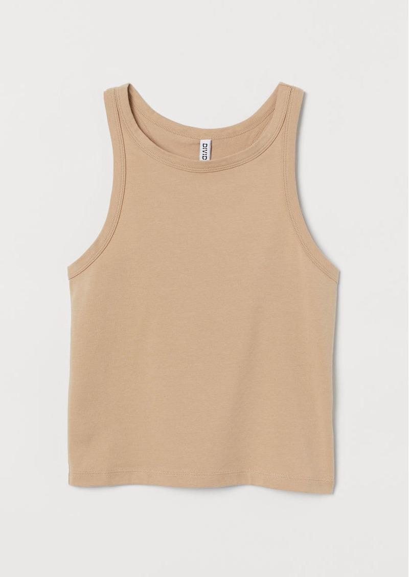 H&M H & M - Cotton Tank Top - Beige