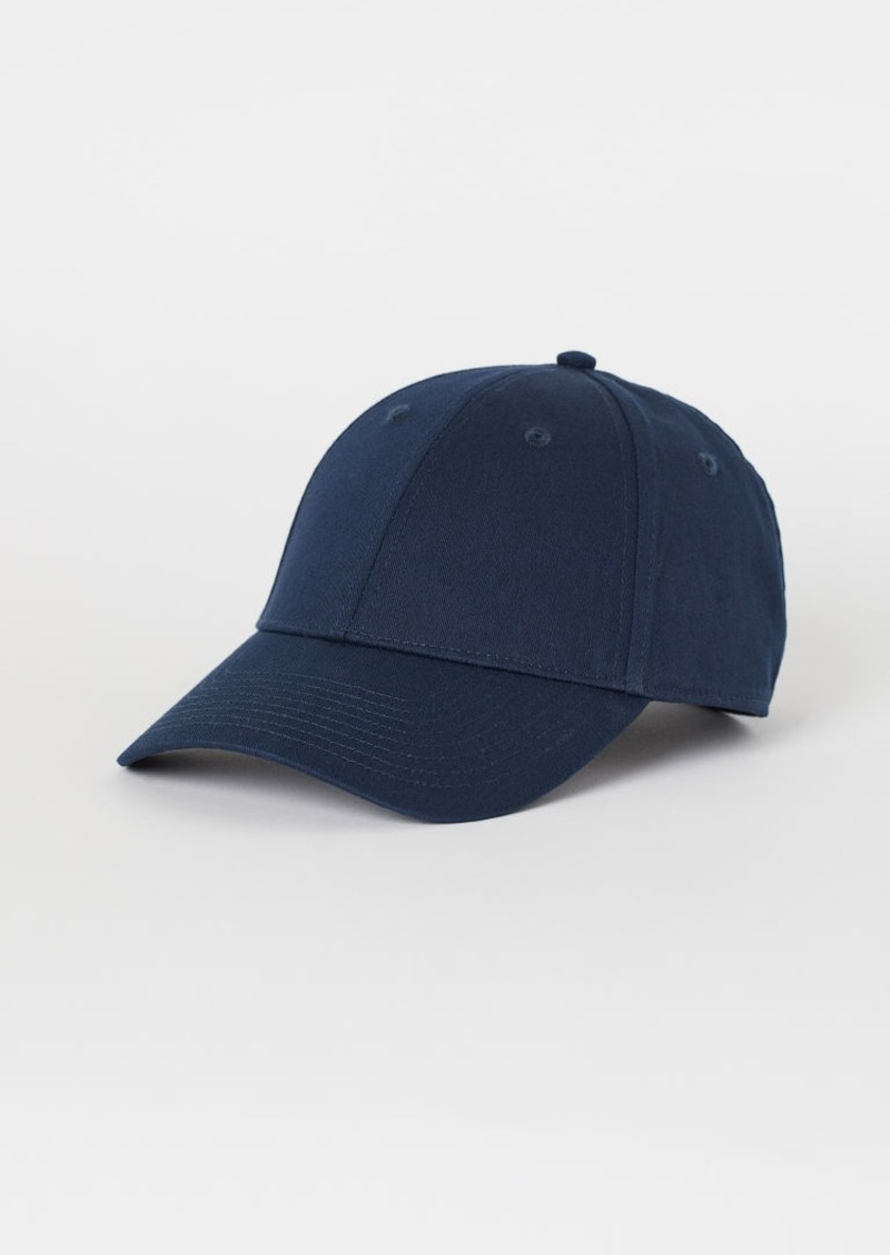 H&M H & M - Cotton Twill Cap - Blue