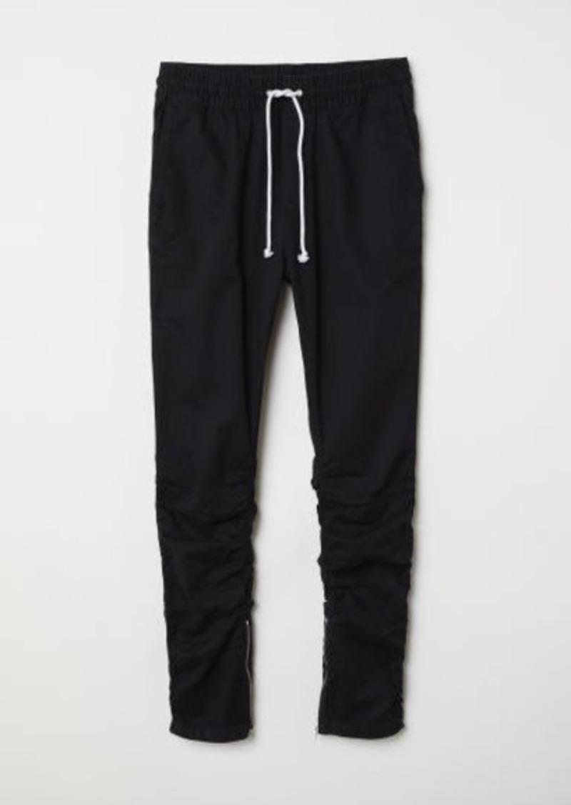 H&M H & M - Cotton Twill Joggers - Black
