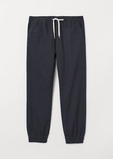 H&M H & M - Cotton Twill Joggers - Blue