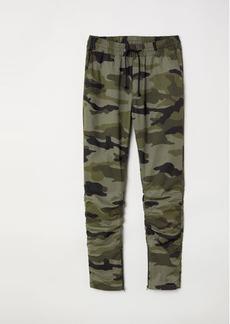 H&M H & M - Cotton Twill Joggers - Green