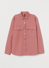 H&M H & M - Cotton Twill Shirt Jacket - Pink