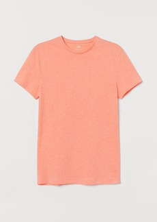 H&M H & M - Crew-neck Muscle Fit T-shirt - Orange
