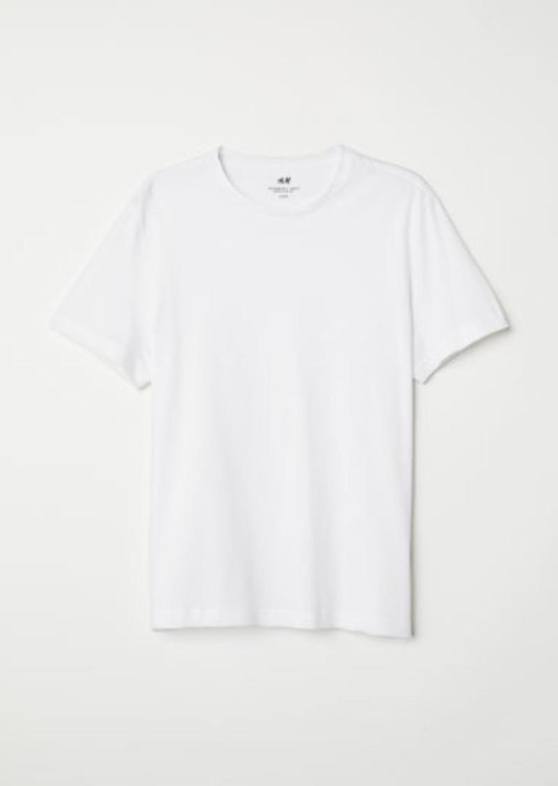 H&M H & M - Regular Fit Crew-neck T-shirt - White
