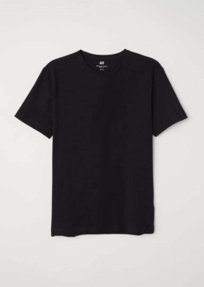 H&M H & M - Slim Fit Round-neck T-shirt - Black