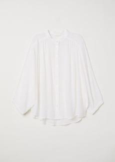 H&M H & M - Crinkled Blouse - White