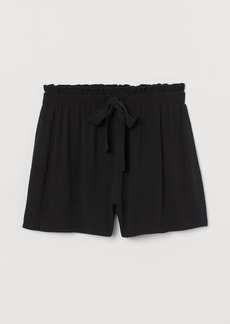 H&M H & M - Crinkled Shorts - Black