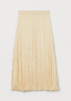 H&M H & M - Crinkled Skirt - Yellow