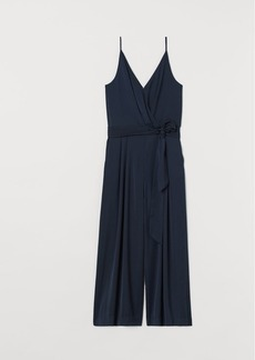 H&M H & M - Cropped Jumpsuit - Blue