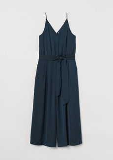H&M H & M - Cropped Jumpsuit - Turquoise