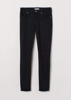 H&M H & M - Cropped Twill Pants - Black