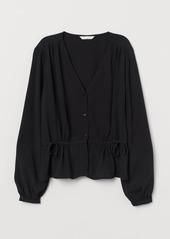 H&M H & M - Crêped Blouse - Black